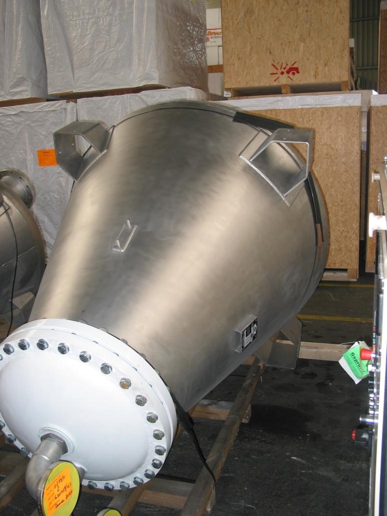 Wechselbeansprucher Filterbehälter aus Edelstahl/C-Stahl