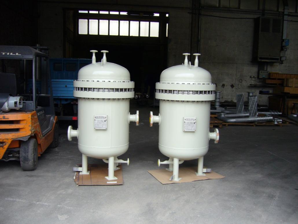 Filterbehälter mit Spezialeinsätzen, austauschbar